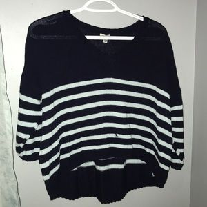 Navy and Light Blue Striped Sweater